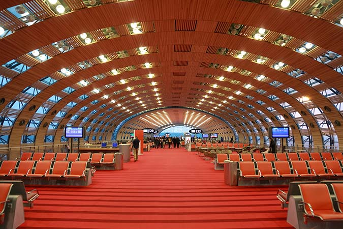 Charles de Gaulle airport gate, Hall E, Paris, France
